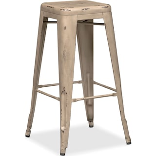 Olin Backless Barstool - Ivory