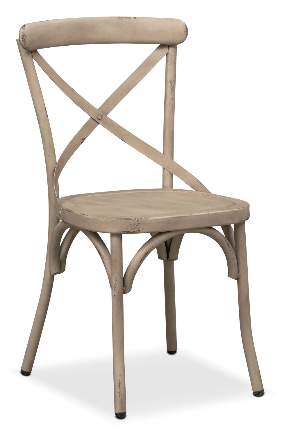 Dining Room Furniture - Saxon X-Back Side Chair - Ivory