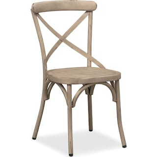 Saxon X-Back Side Chair - Ivory