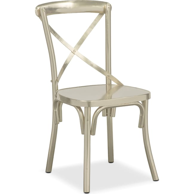 Dining Room Furniture - Braddock Side Chair - Nickel