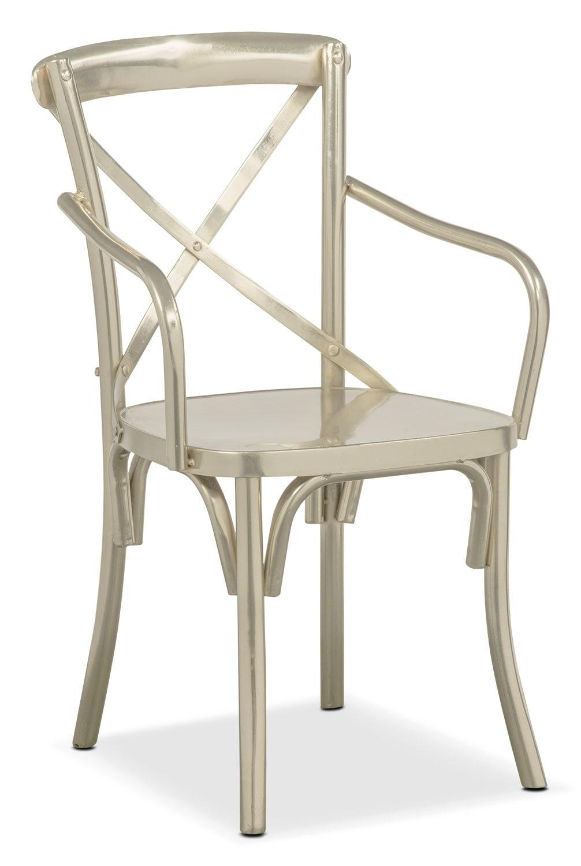 Braddock Arm Chair - Nickel