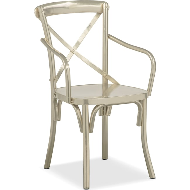 Dining Room Furniture - Braddock Arm Chair - Nickel