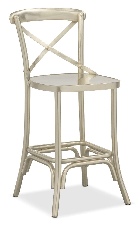 Dining Room Furniture - Braddock Counter-Height Stool - Nickel