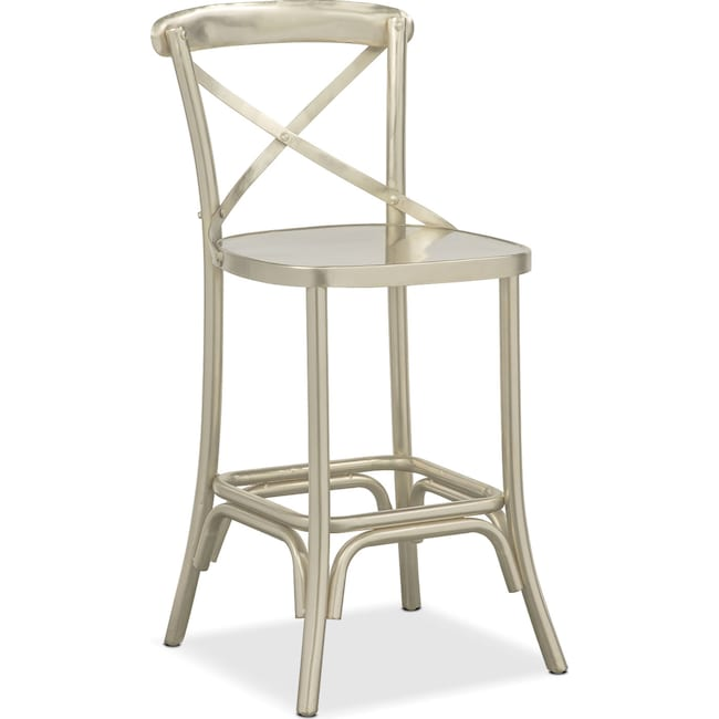 Dining Room Furniture - Braddock Counter-Height Stool - Nickel