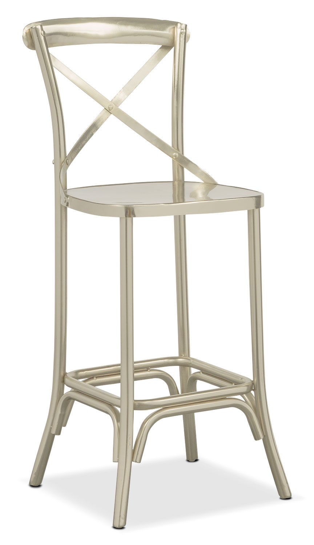 Dining Room Furniture - Braddock Barstool - Nickel