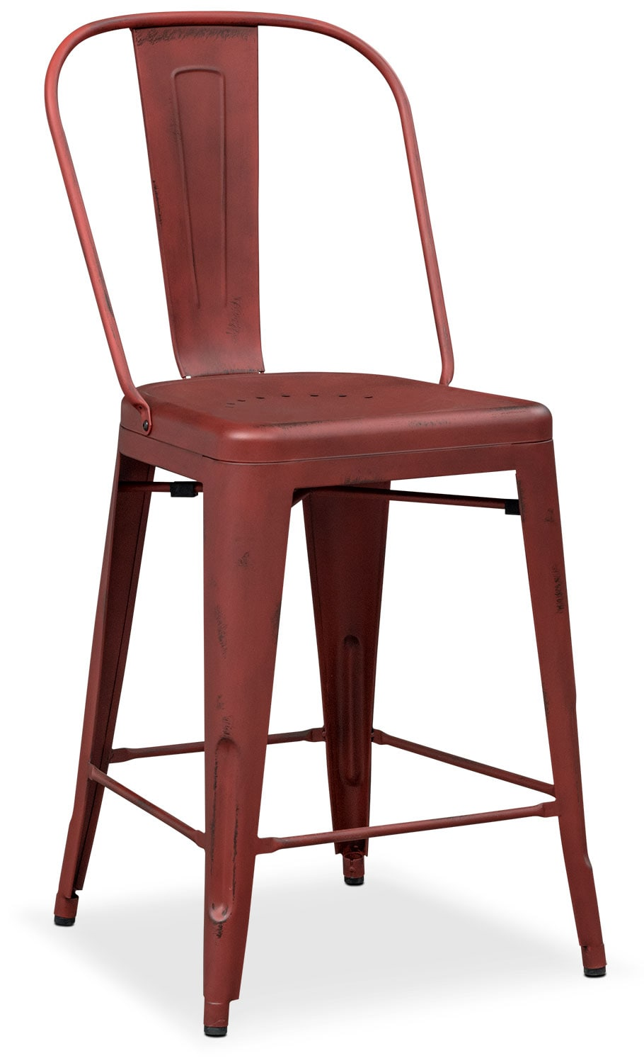 Olin Splat-Back Barstool - Red