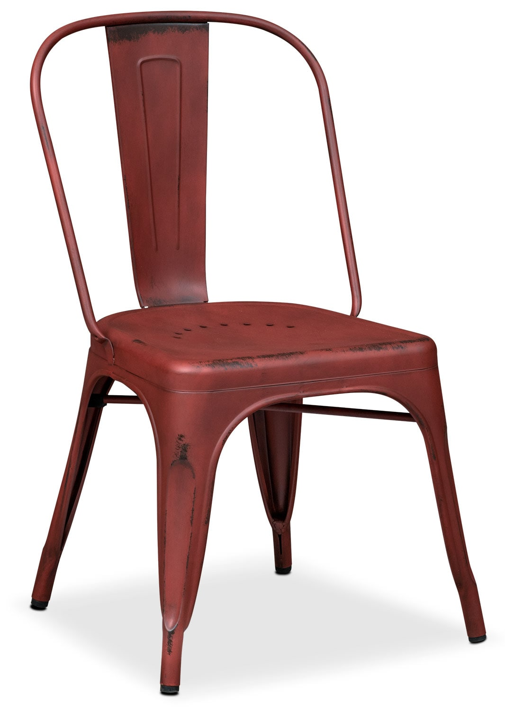 Dining Room Furniture - Olin Splat-Back Side Chair - Red