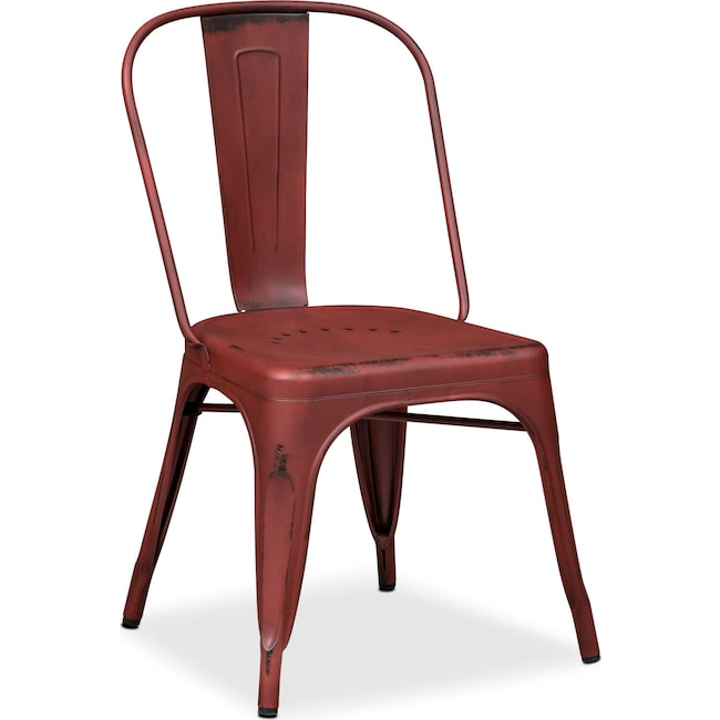 Dining Room Furniture - Olin Splat-Back Side Chair - Red