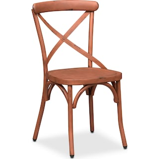 Saxon X Back Side Chair - Orange