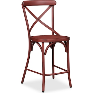Saxon X-Back Barstool - Red