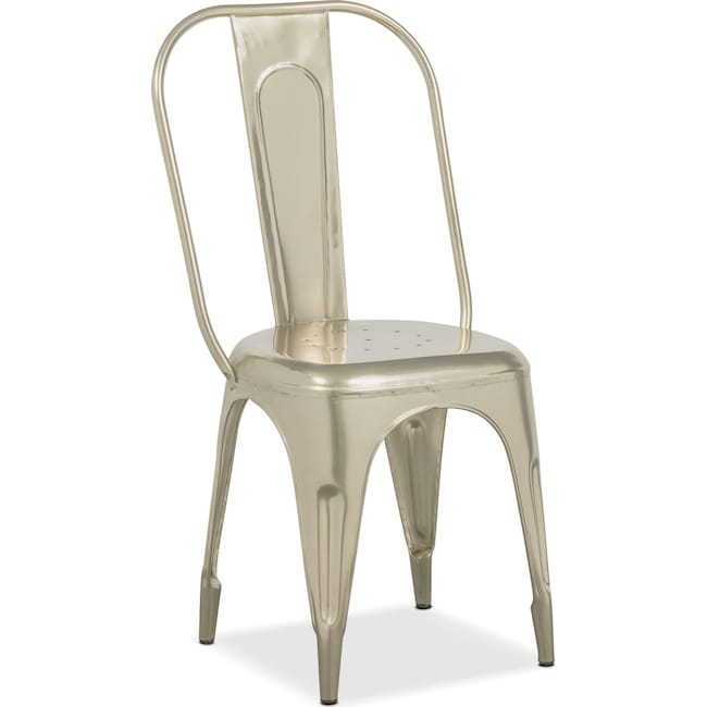 Dining Room Furniture - Holden Splat-Back Side Chair - Nickel