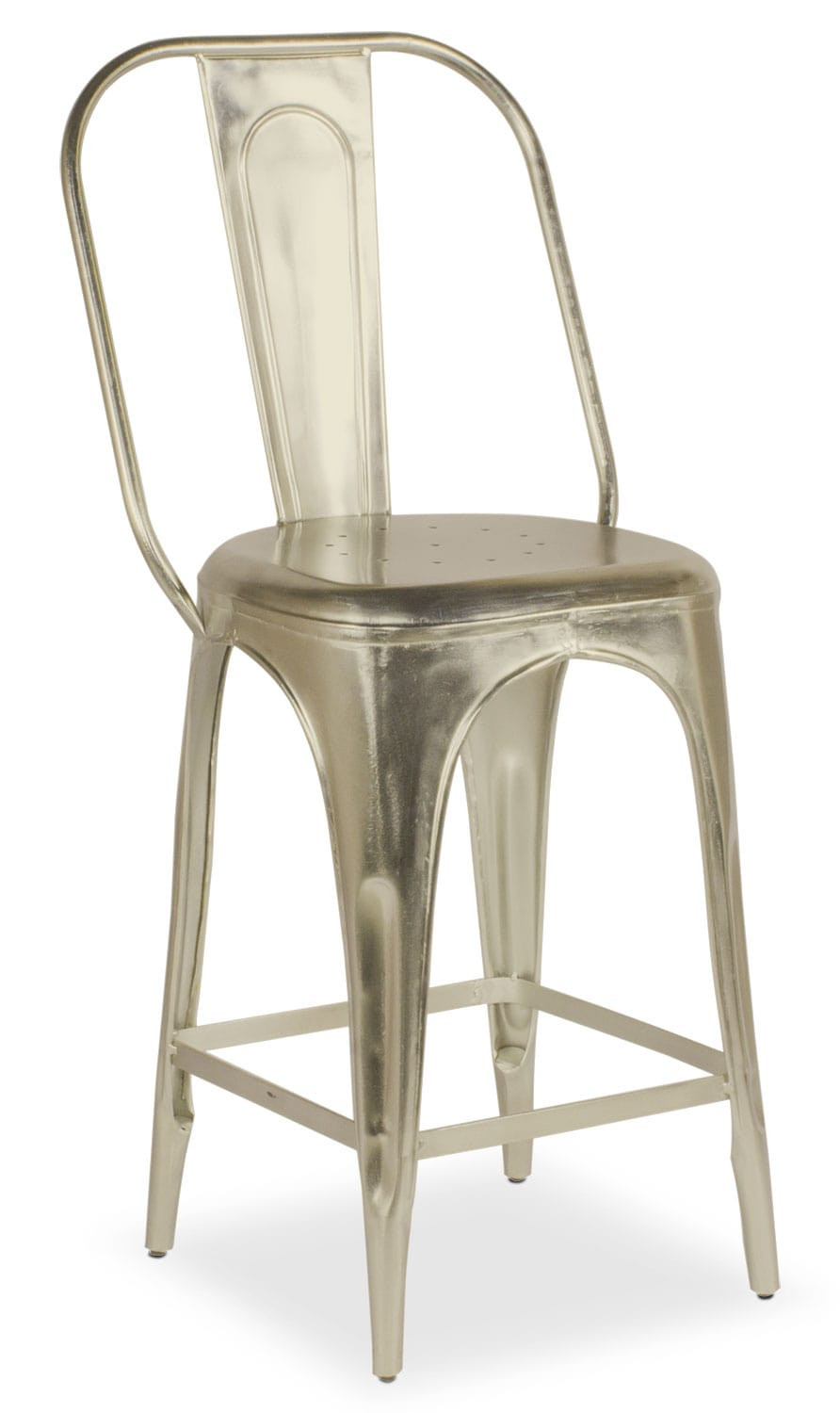 Dining Room Furniture - Holden Splat-Back Counter-Height Stool - Nickel