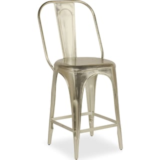 Holden Splat-Back Counter-Height Stool - Nickel