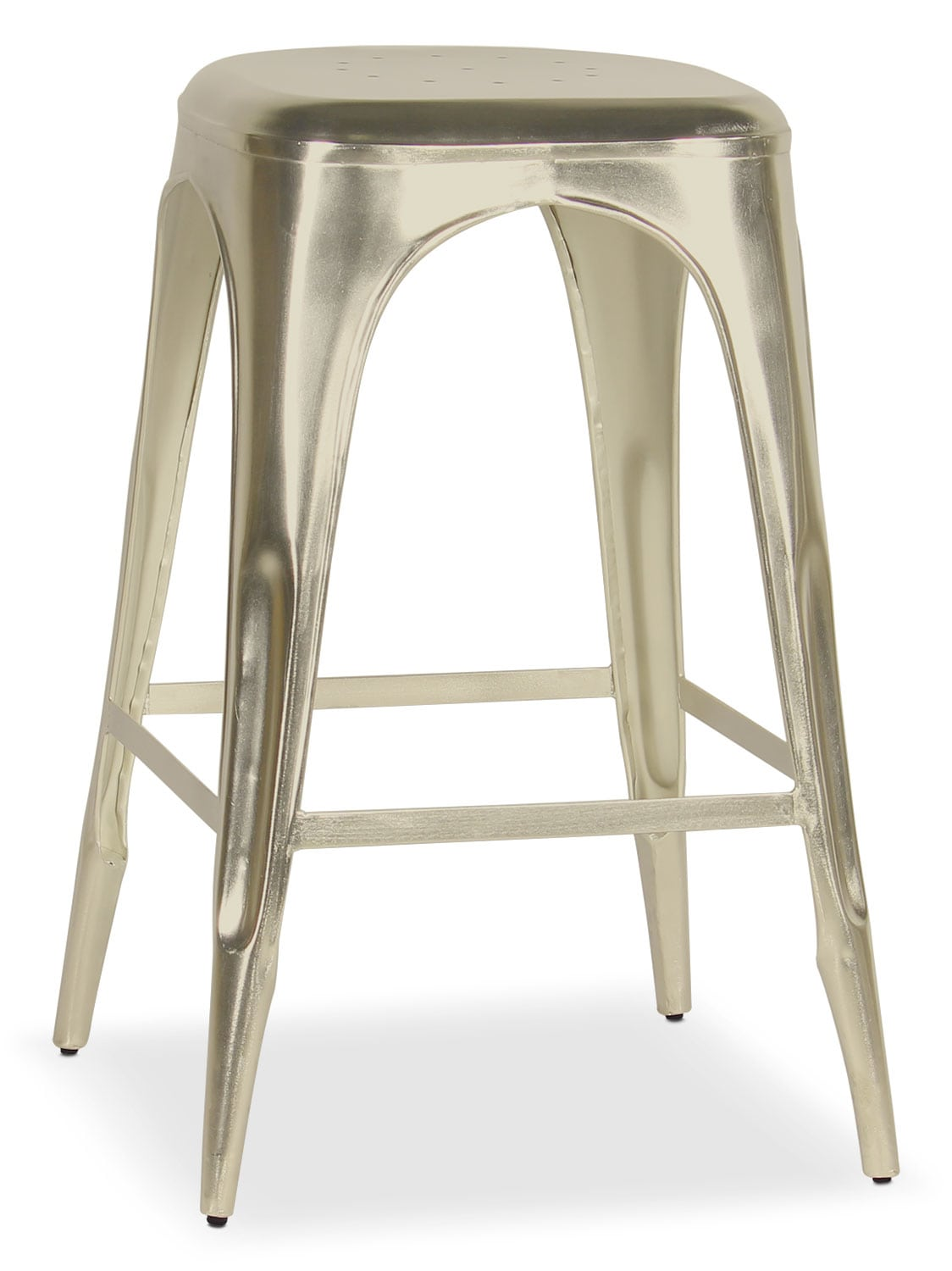 Dining Room Furniture - Holden Backless Barstool - Nickel