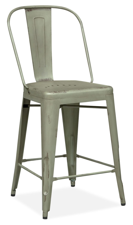 Dining Room Furniture - Olin Splat-Back Counter-Height Stool - Green
