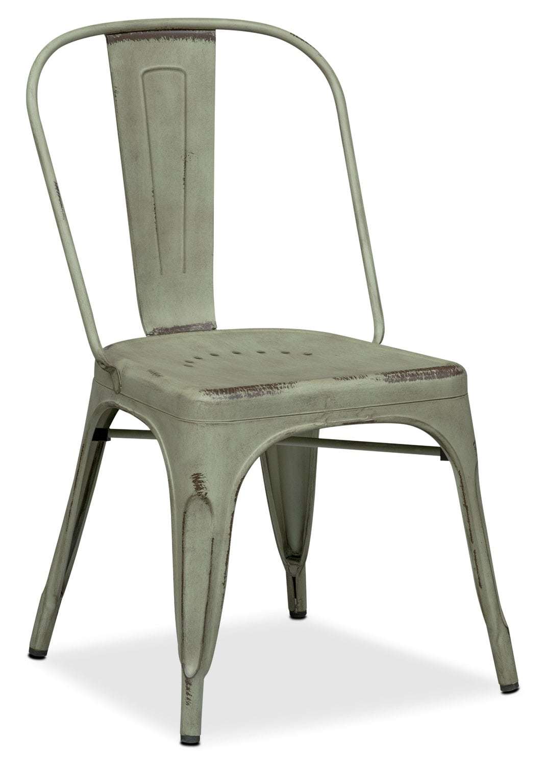 Olin Splat-Back Side Chair - Green