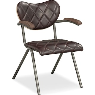 Fairfax Arm Chair - Brown