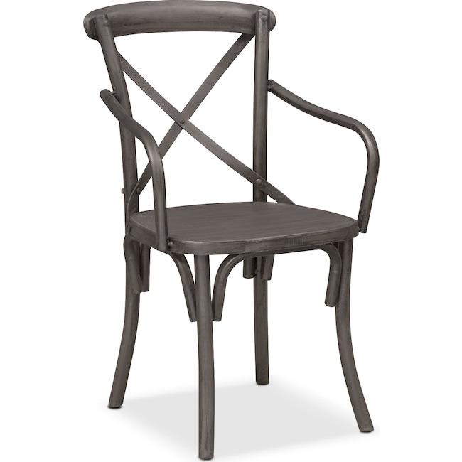 Dining Room Furniture - Braddock Arm Chair - Black