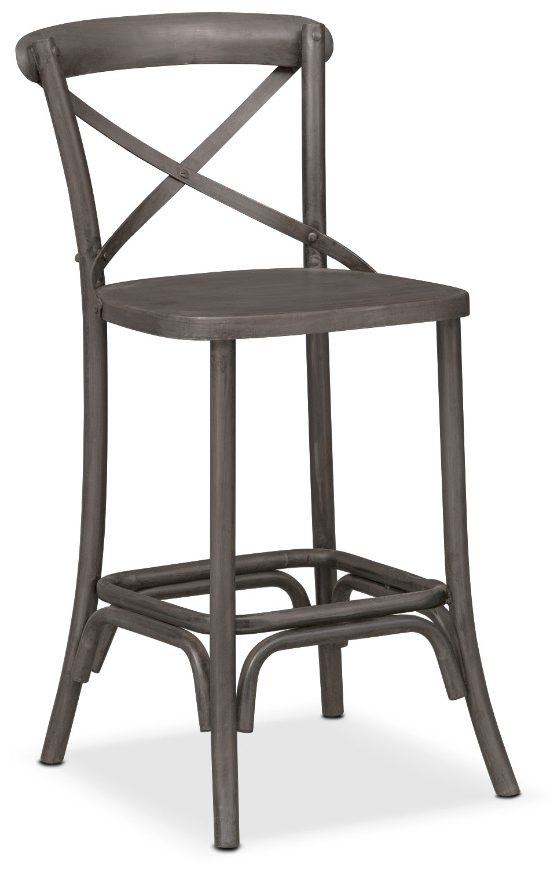 Dining Room Furniture - Braddock Counter-Height Stool - Black