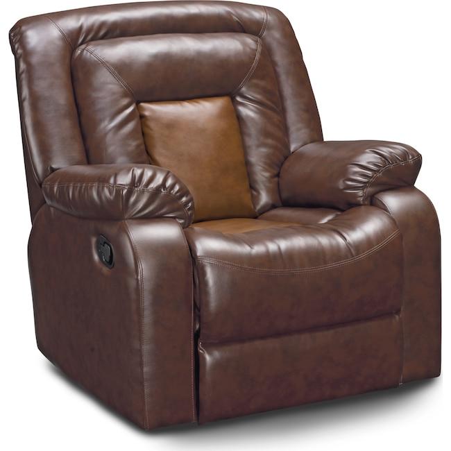 Living Room Furniture - Mustang Recliner - Brown