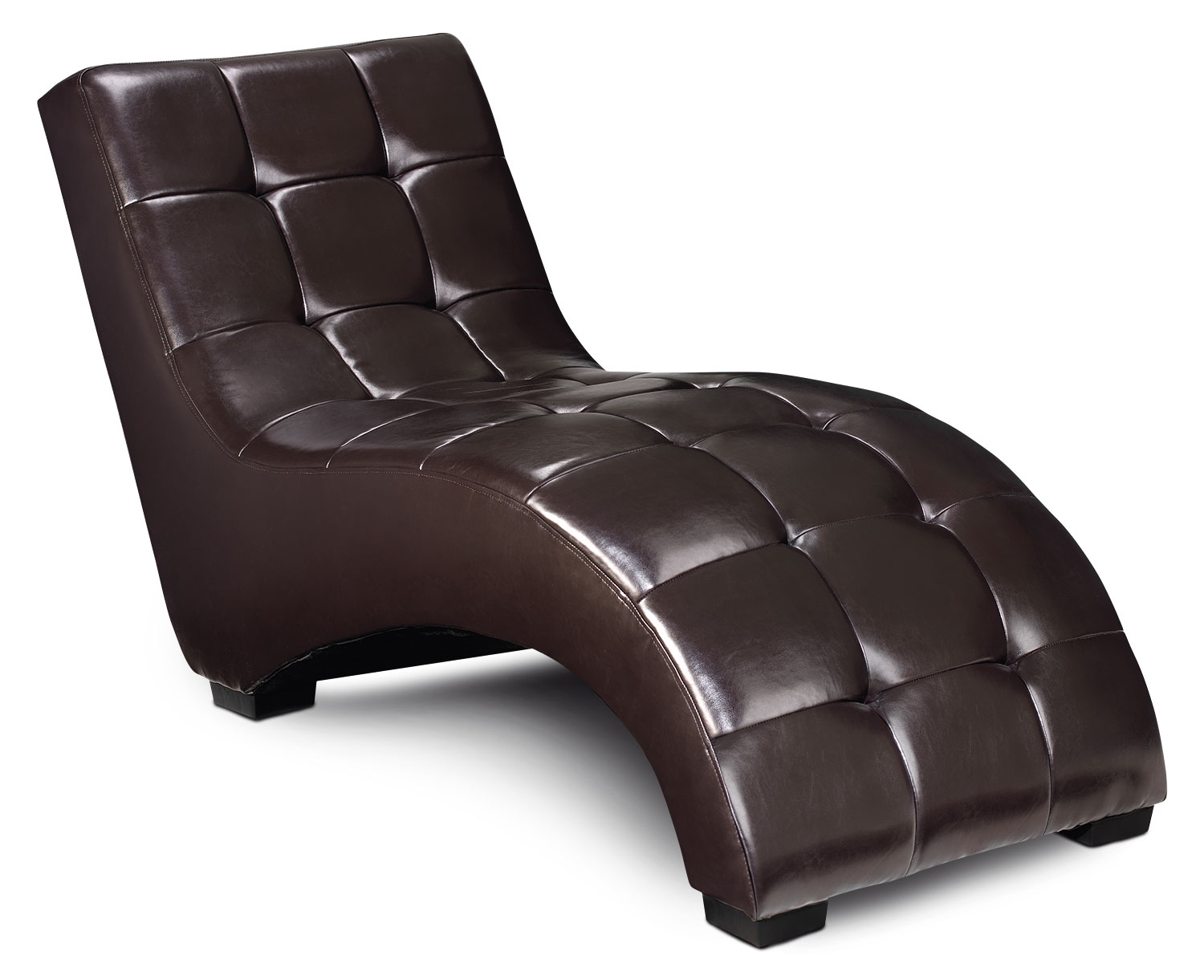 Living Room Furniture - Lulu Chaise - Brown