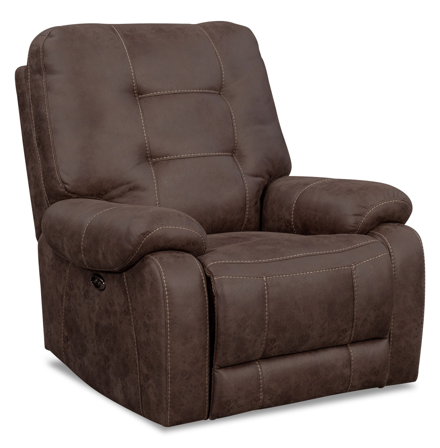 Living Room Furniture - Denali Power Recliner - Mocha