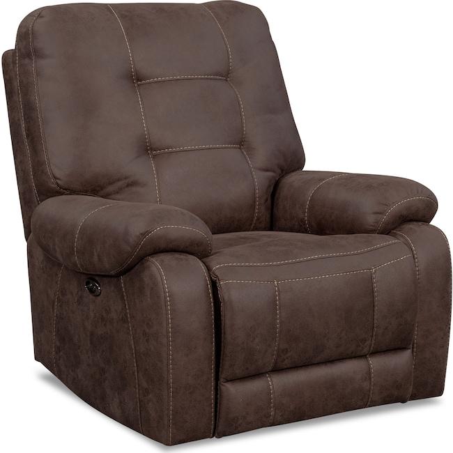 Living Room Furniture - Denali Power Recliner - Mocha