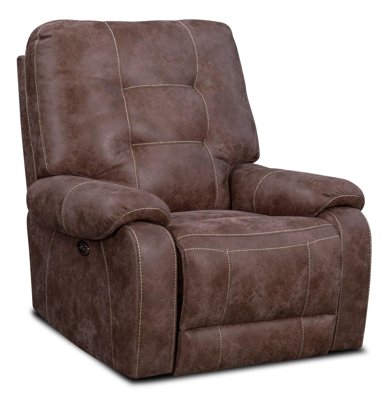 Living Room Furniture - Denali Power Recliner - Natural