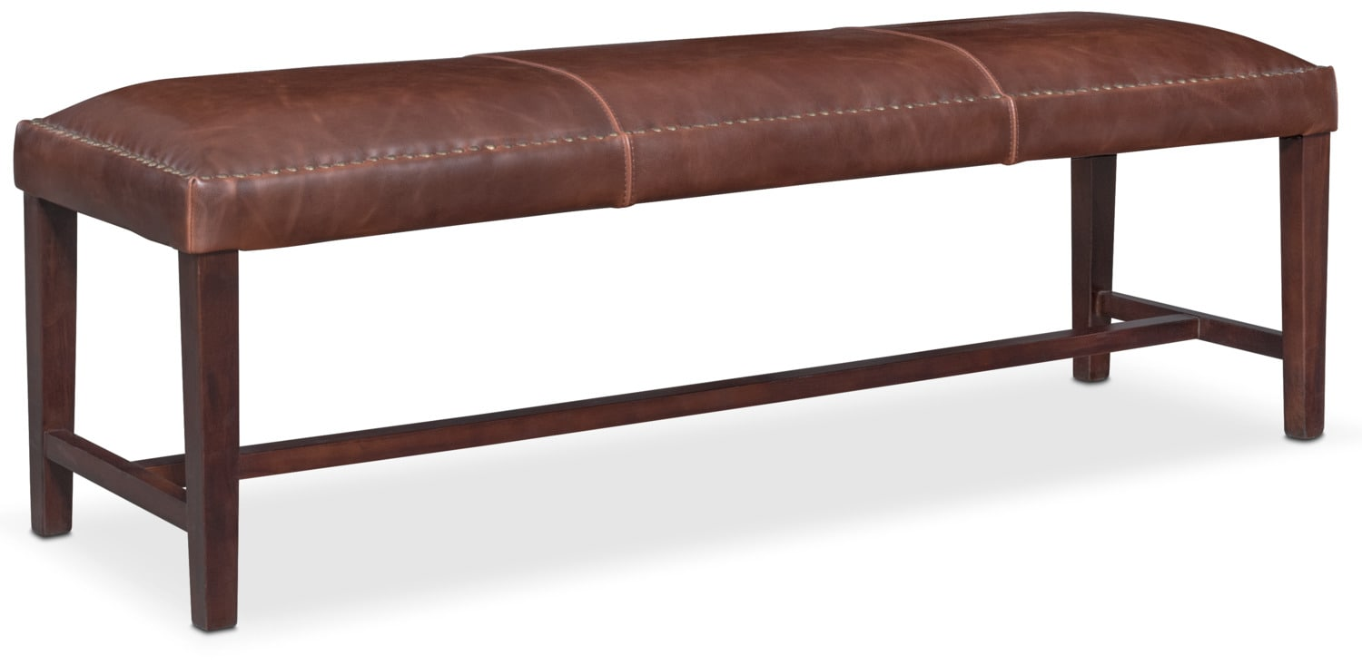 Living Room Furniture - Cloister Bench - Brown