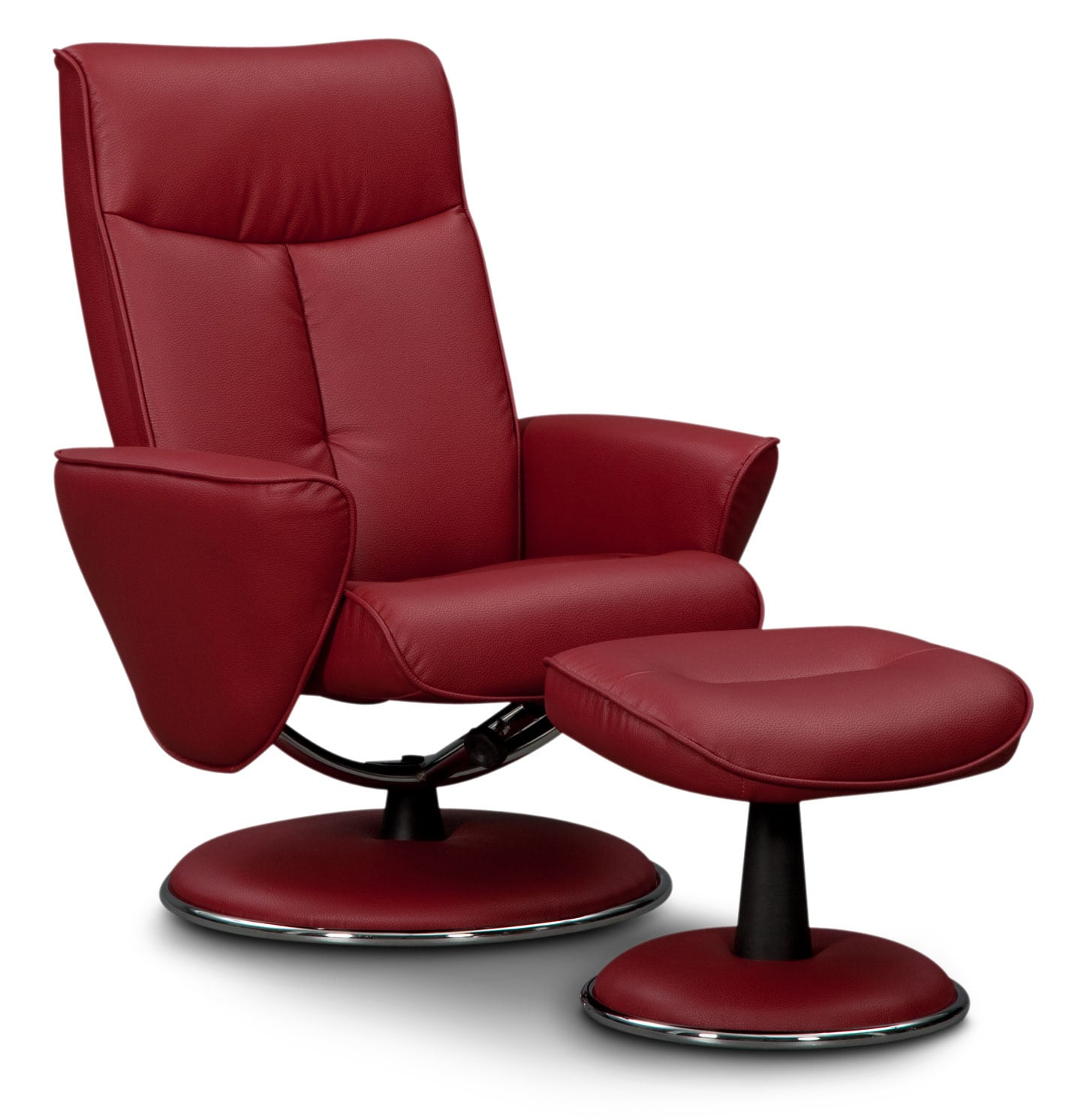 Tracer Reclining Chair and Ottoman - Red