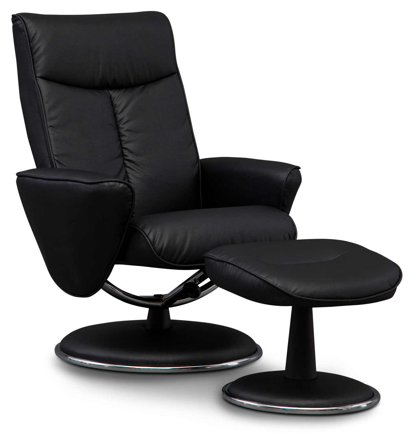 Tracer Reclining Chair and Ottoman - Black