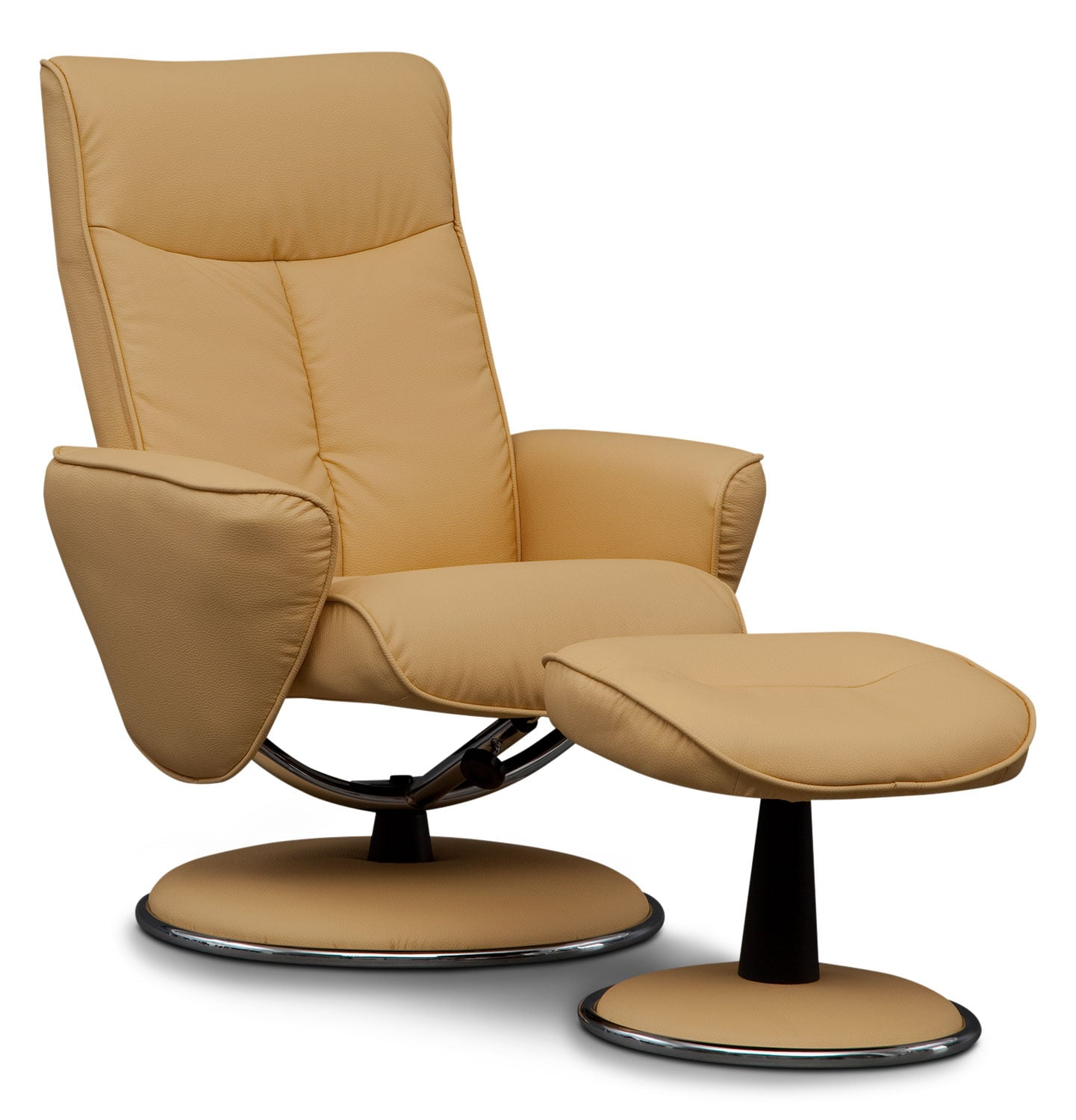 Tracer Reclining Chair and Ottoman - Yellow