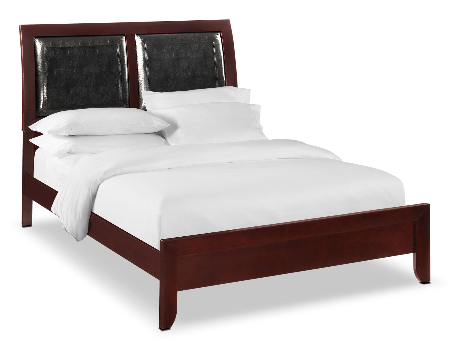 Bedroom Furniture - Braden Queen Upholstered Bed - Merlot