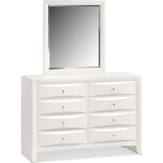 Braden Dresser and Mirror  - White