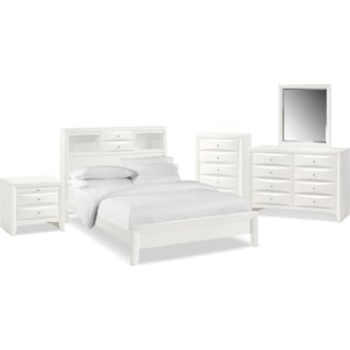 The Braden Bookcase Bedroom Collection - White