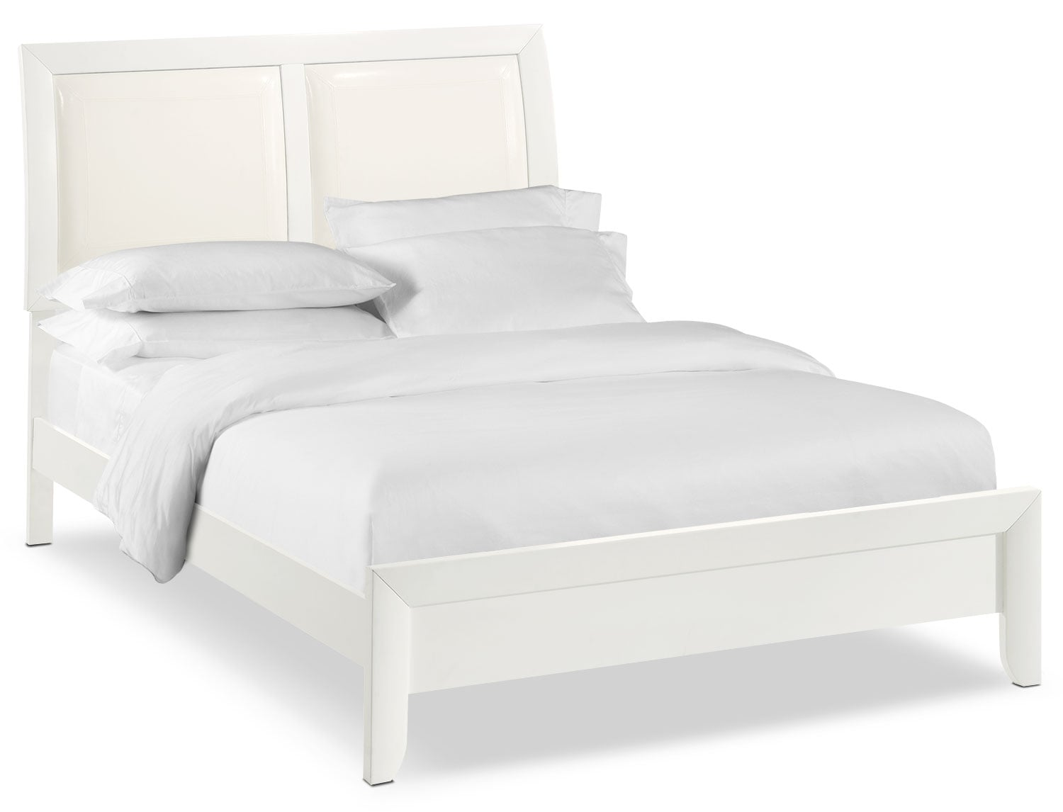 Bedroom Furniture - Braden Full Upholstered Bed - White
