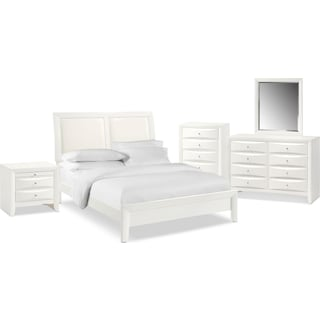 The Braden Upholstered Bedroom Collection - White