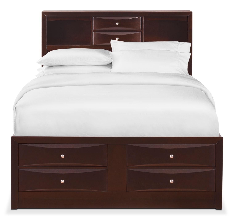 Braden Queen Bookcase Bed with Storage Merlot