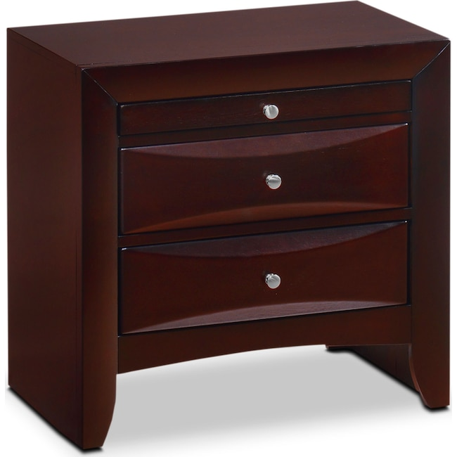 Bedroom Furniture - Braden Nightstand - Merlot