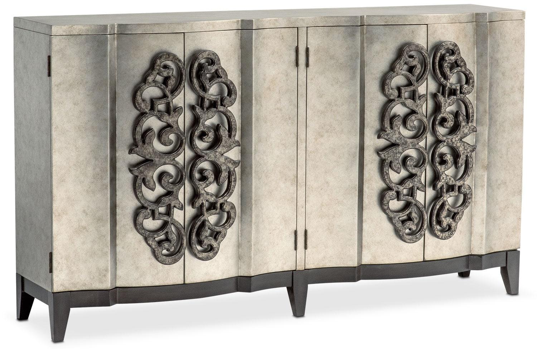 Accent And Occasional Furniture Evita Wine Credenza Metallic Silver