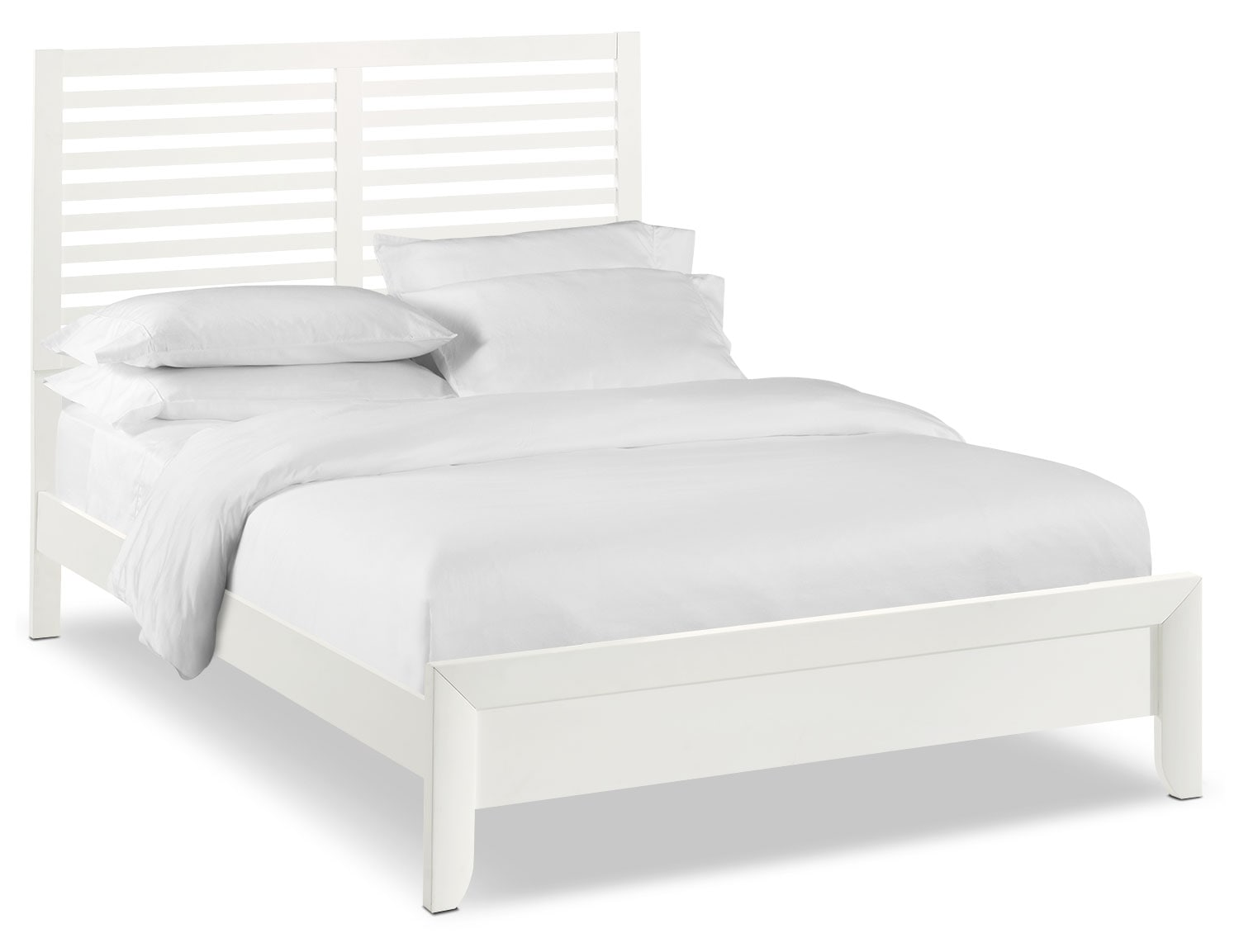 Bedroom Furniture - Braden Queen Slat Bed - White