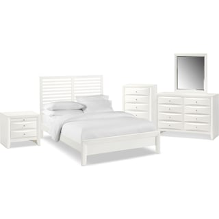 The Braden Slat Bedroom Collection - White