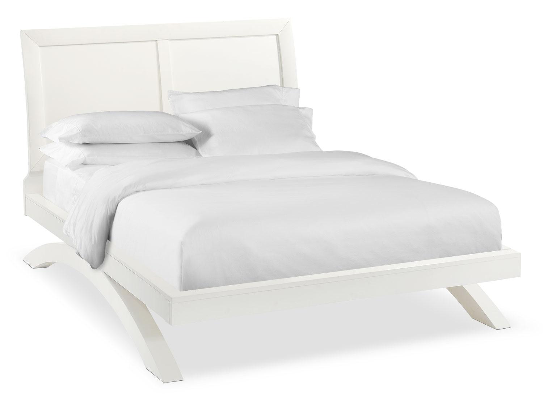 Jaden Queen Arch Bed - White