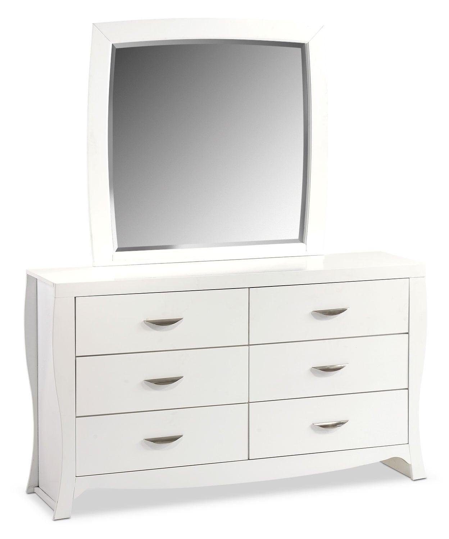 Jaden Dresser and Mirror - White