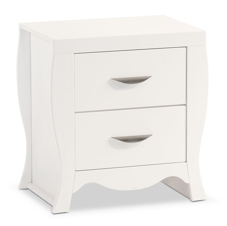 Bedroom Furniture - Jaden Nightstand - White