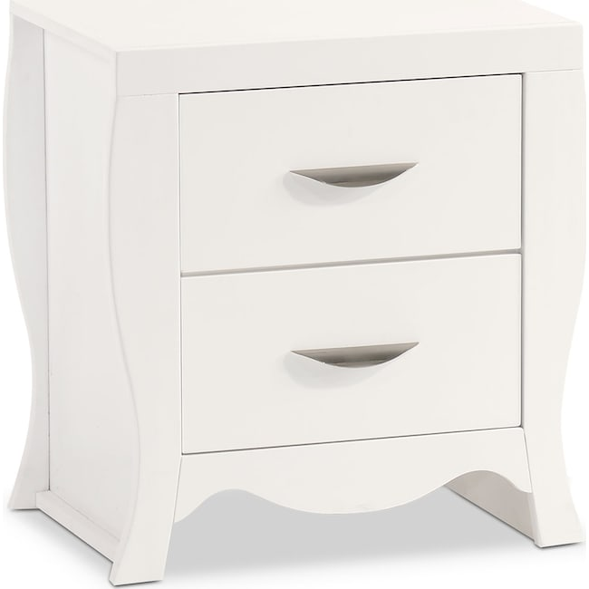 Bedroom Furniture - Jaden Nightstand - White