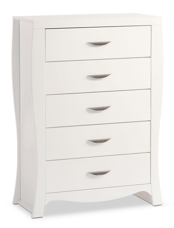 Bedroom Furniture - Jaden Chest - White