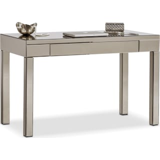 Brio Mirrored Desk - Gray
