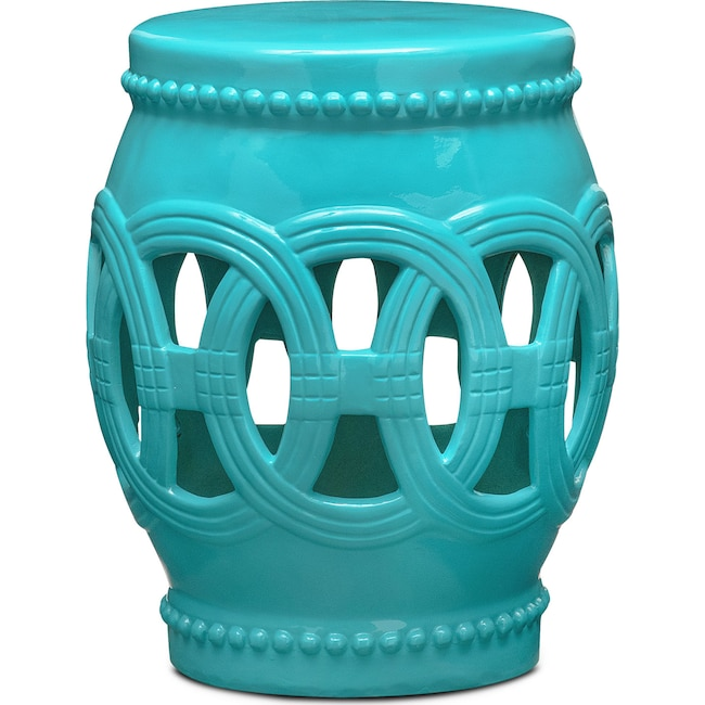 Accent and Occasional Furniture - Belize Accent Stool - Blue