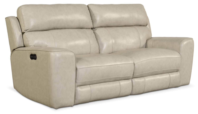 Living Room Furniture - Newport 2-Piece Power Reclining Sofa - Cream